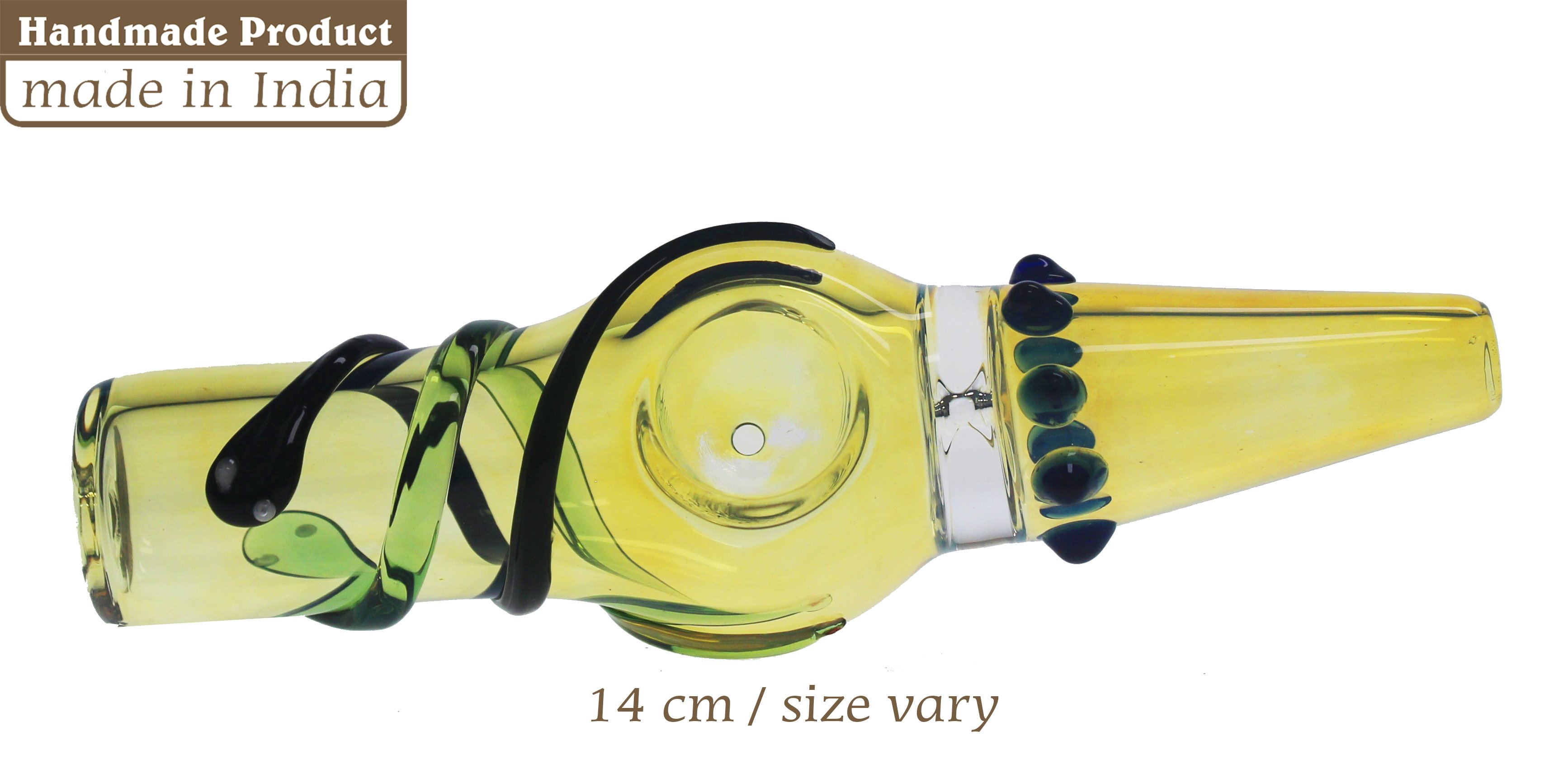 3G Straight Colored Pipe With Snake (14cm)