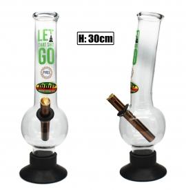 Large Glass Bonza Bubble - Let It Go (30cm)