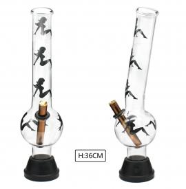 XLarge Glass Bonza Bubble - Sexy Girl (36cm)