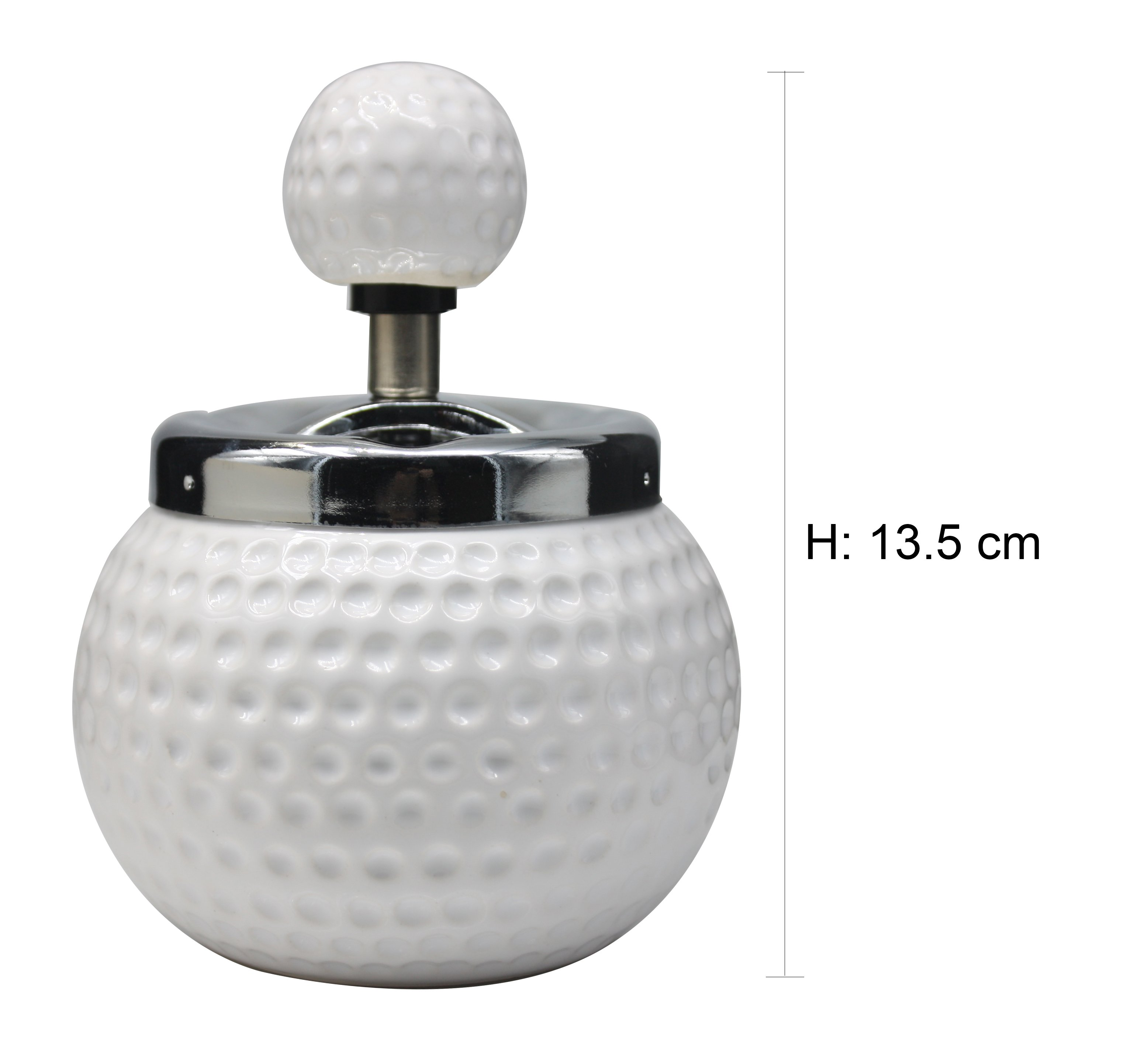 Golf Spinning Ashtray (h:13.5cm)