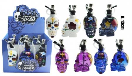 Glass Candy Skull Mini Hookah