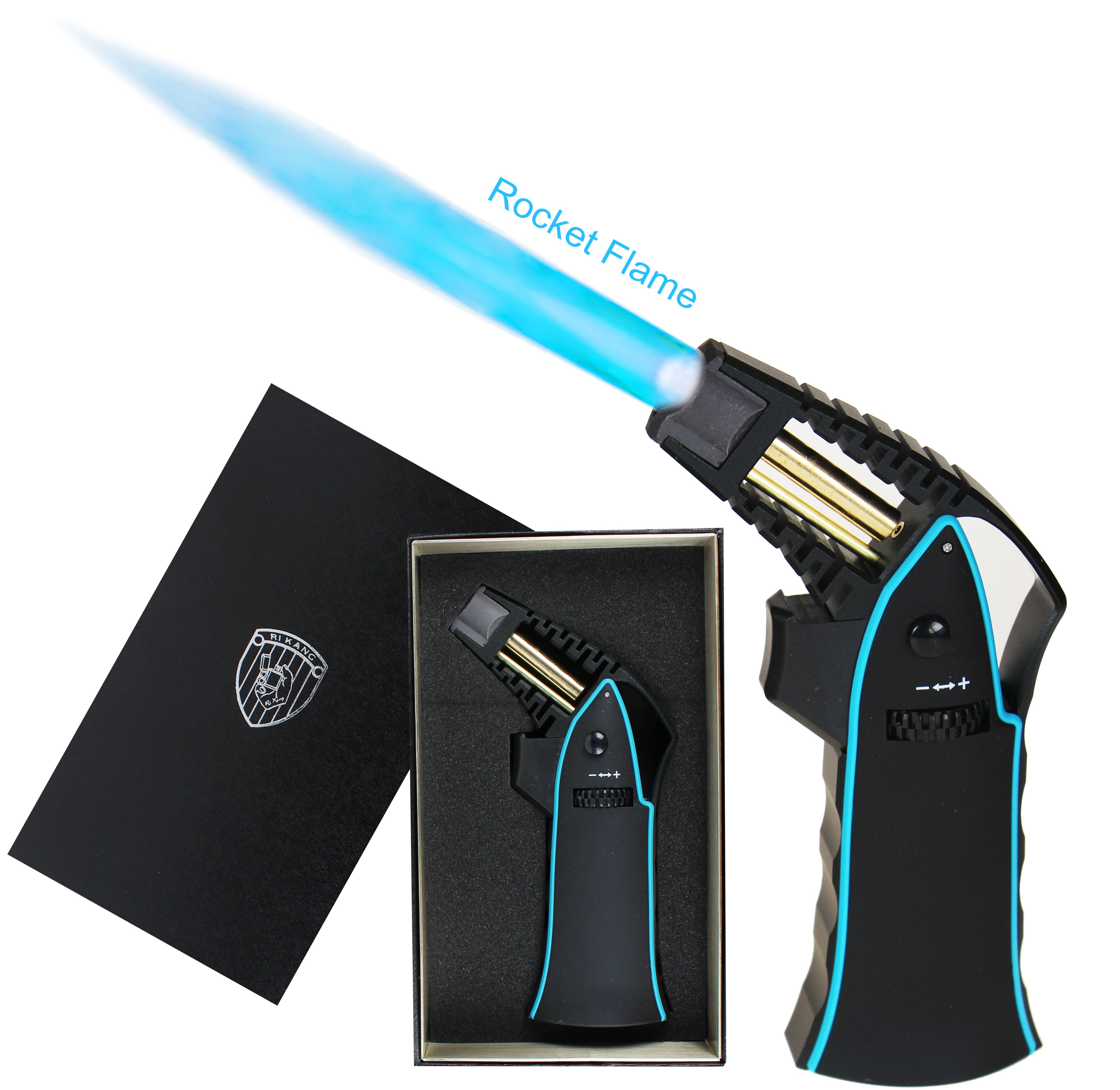 Premium Rocket Jet Flame Lighter - Blue