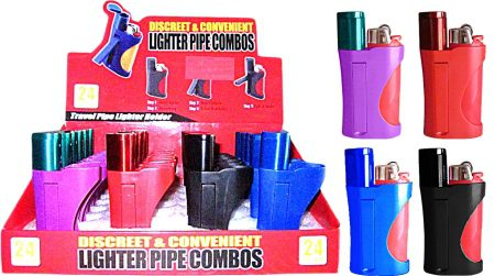 Lighter / Pipe Combo - Fits Large Bic Lighter