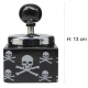 Spinning Ashtray With Skull Print (h:13cm)