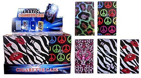 Mixed Design Super King Cigarette Case ( Holds 20 Cigs)