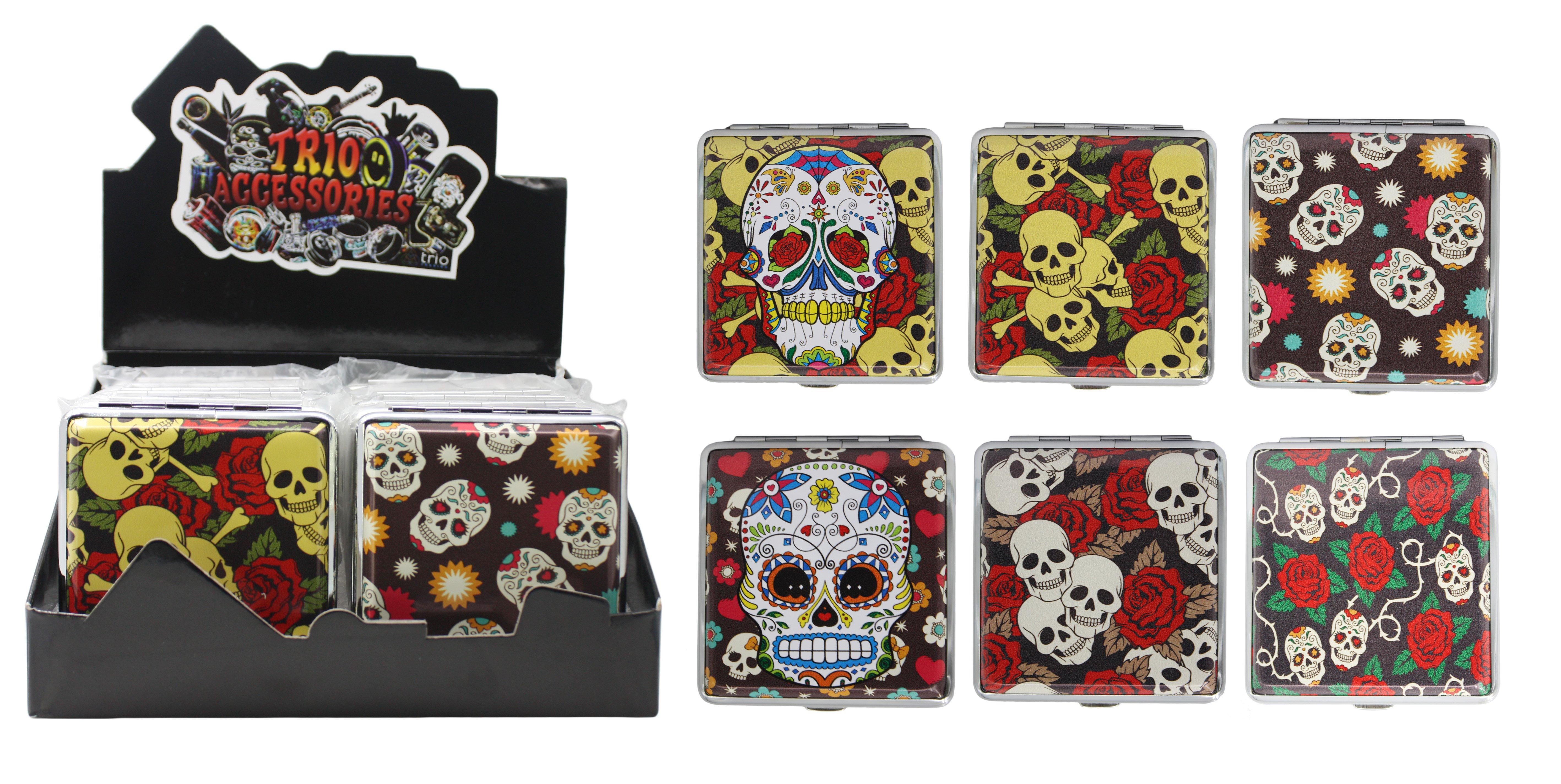 Skull & Rose Cigarette Case