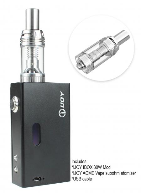 Ijoy Ibox 30w Kit With Atomizer & Battery - Black