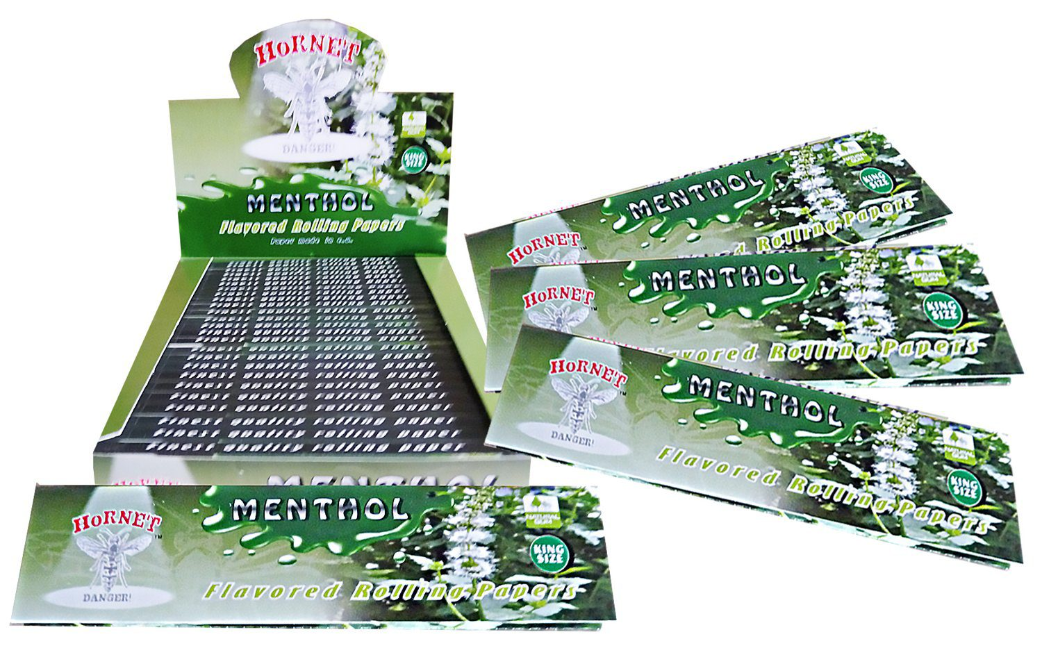 Hornet Rolling Papers King Size - Menthol Flavour