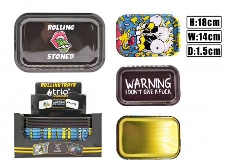 T1076 Small Metal Rolling Tray