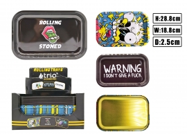T1078 Large Metal Rolling Tray